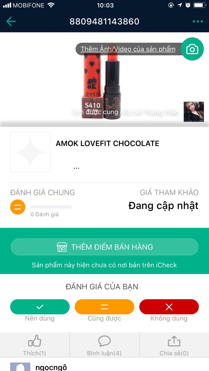 Son Amok Lovefit Chocolate
